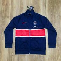 Jaket Pria Training Sweater PSG Navy New 2020 2021 Grade Ori Official