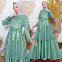 Kebaya gamis brukat / Baju muslimah modern