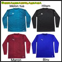 Baju Training Kaos Olahraga Pria Lengan Panjang Size L