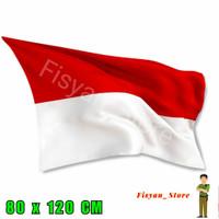 Bendera Indonesia Merah Putih 80 x 120 Cm (Bahan Satin)