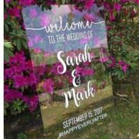 Sticker Welcome Sign, Stiker Backdrop Untuk Pernikahan