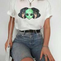 Kaos Baju Alien Ideas aesthetic tumblr tee 90s oversize unisex murah