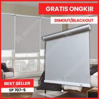 Roller Blind Indoor Dimout / Blackout Spring Flexy Stop - Sistem Per