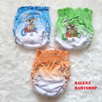 Clodi / celana pempers bayi deniz kerut ( 3 PCS ) seri warna - S - S