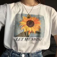 Kaos Baju Let Me Shine aesthetic tumblr tee 90s oversize unisex murah