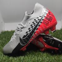 Sepatu Bola NIKE MERCURIAL VAPOR SUPERFLY Grey Red Neymar Jr