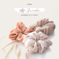 Cotton Inch - Atifa Scrunchie Ikat Rambut / Cepol Rambut Jumbo
