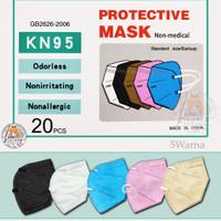 Masker KN95 hitam putih pink abu original Korean style non hijab KN 95