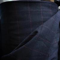 Kain Semi Wool Blazer Motif Kotak _ Bahan Semi Wool Kotak Import - No.12