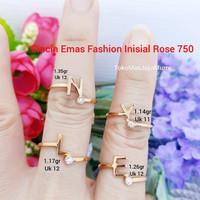 Cincin Emas Inisial Nama Rosegold 750