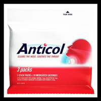 New Produk Anticol Throat Lozenges 3 Packs - Original Australia