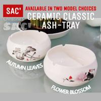 Classic Ceramic Ashtray Asbak Keramik Motif Klasik