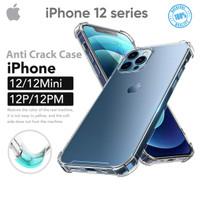 Casing iPhone 12 mini 12 Pro Max Anti Crack Case XR XS 11 Pro Shock