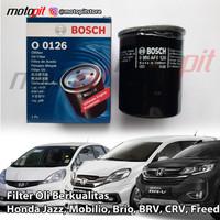 BOSCH Filter Oli Honda Jazz Mobilio Brio BRV CRV Freed City Civic 0126