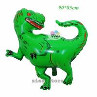 balon foil Tirex hijau / balon karakter dinosaurus / balon dino jumbi