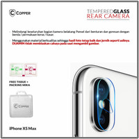 Iphone Xs Max - Copper Tempered Glass Kamera