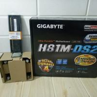 Paket Intel Core i5 4590 - Motherboard Gigabyte H81M-DS2 Murah