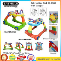 Babyelle Baby Walker 2 In 1 Colourful Baby Elle Kursi Jalan Bayi Murah