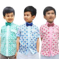 Baju kemeja hem batik anak seri Rembulan 6 bulan 1 - 10 tahun