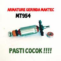 armature gerinda maktec MT954 angker rotor mesin gerinda 4 inch