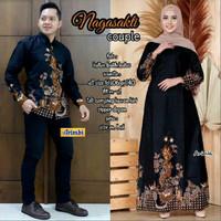 Baju Gamis Wanita Couple Batik Kemeja Pria Sarimbit Terbaru