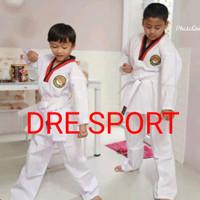 Baju Taekwondo anak-anak kerah HITAM MERAH