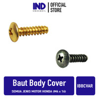 Baut-Baud Cover Body Honda Vario/Beat/Scoopy/Spacy 4x15-M4x15