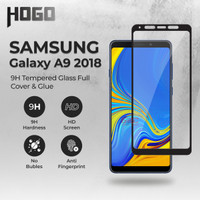Tempered Glass SAMSUNG Galaxy A9 2018 HOGO Full Cover Anti Gores Kaca