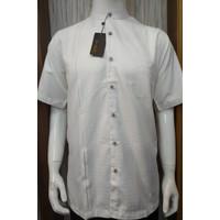 Baju Koko Putih Lengan Pendek Katun Malik CVC - Grosir Baju Umroh Pria