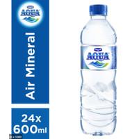 Aqua 600ml isi 24 (1karton) Grab & Gojek
