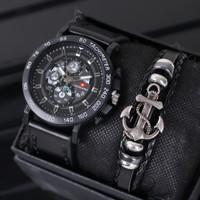Jam tangan pria swiss army plus gelang mewah