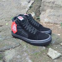 sepatu vans sk8 full black ukuran 36 - 45 size