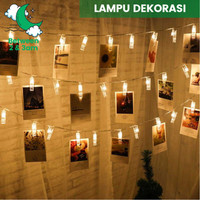 Lampu Hias LED Dekorasi Kamar/ Lamaran/ Tunangan/ Ulang Tahun 2 meter