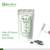 MASKER Wajah PREMIUM - Masker Spirulina NEOALGAE - 20 Kapsul