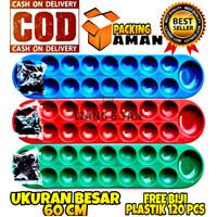 PROMO FREE BIJI PLASTIK Mainan Anak Congklak / Mainan Dakon UK Besar