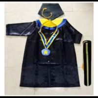 Baju Toga Anak Paud-TK Komplit - kuning biru, ANAK PAUD
