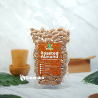 Roasted almond whole 500gr / kacang almond panggang 500gr