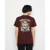 Kaos Pria Erigo T-Shirt The War Cotton Combed Maroon