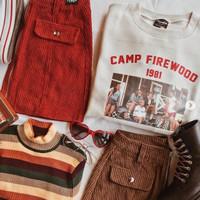 Kaos Baju Camp Firewood 1981 aesthetic tumblr tee 90s oversize unisex
