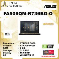 Asus TUF FA506QM-R736BG-O Ryzen 7 5800 8GB 512ssd RTX3060 6GB W10+OHS