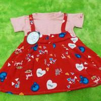 Dress overal 3-4 Tahun Baju anak perempuan dress kodok anak dress baju