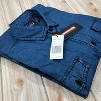 kemeja jeans pria lengan pendek original / ukuran M L XL