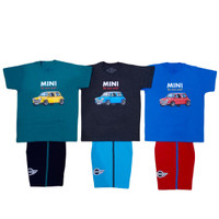 Setelan Baju Main Anak 100% Katun Usia 8,9,10 Tahun BEST SELLER Mobil