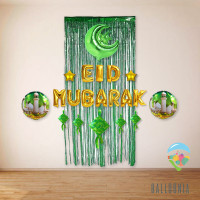 SET Eid Mubarak Foil Balloon / Dekorasi Balon Lebaran Idul Fitri