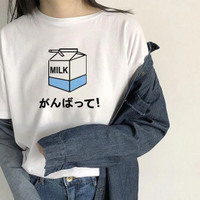 Kaos Baju Milk Box aesthetic tumblr tee 90s oversize unisex murah