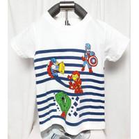 Baju Tshirt Kaos Motif Hero Thor Hulk Avenger Iron Man Anak Laki-laki
