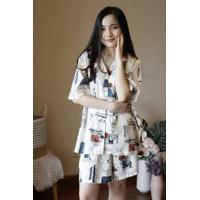 Pakaian Wanita Homewear Piyama Baju Rumah - Kelly Flower