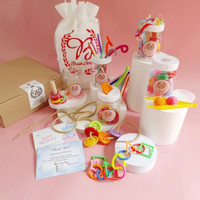 Busy jar 5in1 / mainan edukasi busyjar / montessori / sensory play - Kuning