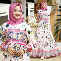 CE Maxidress casual/Gamis casual/Baju Muslim casual Terbaru Gadis