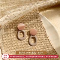 Anting Wanita Model Retro Geometric Earrings Korean Style